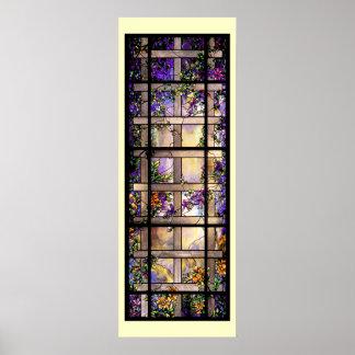 Impresión de las vides del vitral de Tiffany
