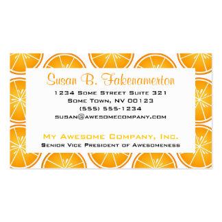 Impresión de los agrios - naranjas cortados tarjeta de visita