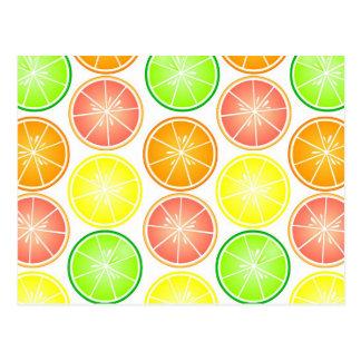 Impresión de los agrios - pomelo del naranja de la postal
