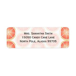 Impresión de los agrios - pomelo etiquetas de remite