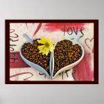 Impresión de los amantes del grano de café impresiones