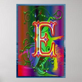 Impresión de los bailarines del alfabeto de la let