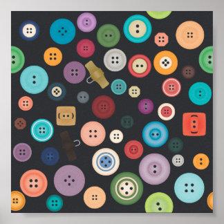 Impresión de los botones poster