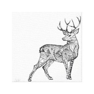 impresión de los ciervos en lona lienzo envuelto para galerías