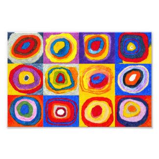 Impresión de los círculos de Kandisnky Cojinete