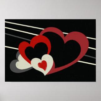 Impresión de los corazones de Grimm Póster