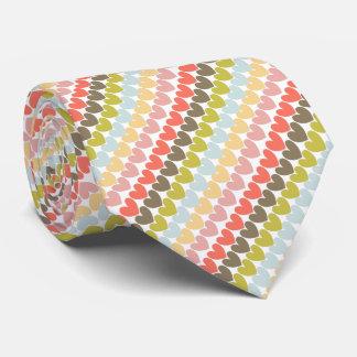 Impresión de los corazones del amor de los colores corbatas personalizadas