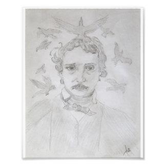 Impresión de los cuervos del Poe Arte Con Fotos