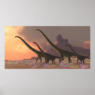 Impresión de los dinosaurios del Mamenchisaurus
