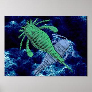 Impresión de los escorpiones de mar póster