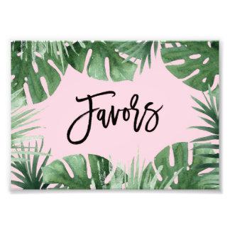 Impresión de los favores de las zonas tropicales fotografías