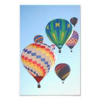 Impresión de los globos del aire caliente arte fotografico
