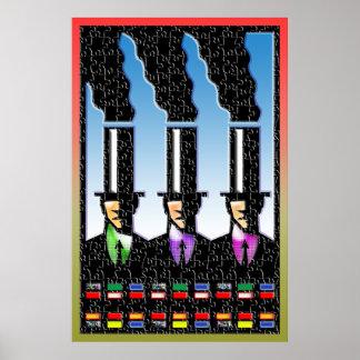 impresión de los hombres de negocios de la pila de posters