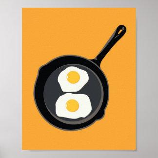 Impresión de los huevos poster