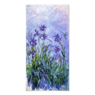 Impresión de los iris de la lila de Monet Cojinete