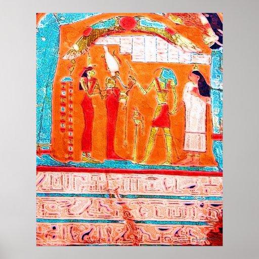 Impresión de los jeroglíficos póster