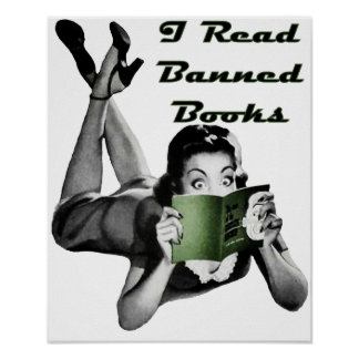 Impresión de los libros prohibidos póster