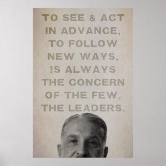 Impresión de los líderes de Ludwig von Mises Poster