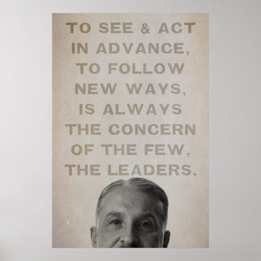 Impresión de los líderes de Ludwig von Mises Póster