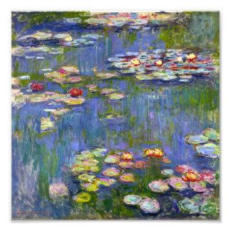 Impresión de los lirios de agua de Monet 1916 Fotografía