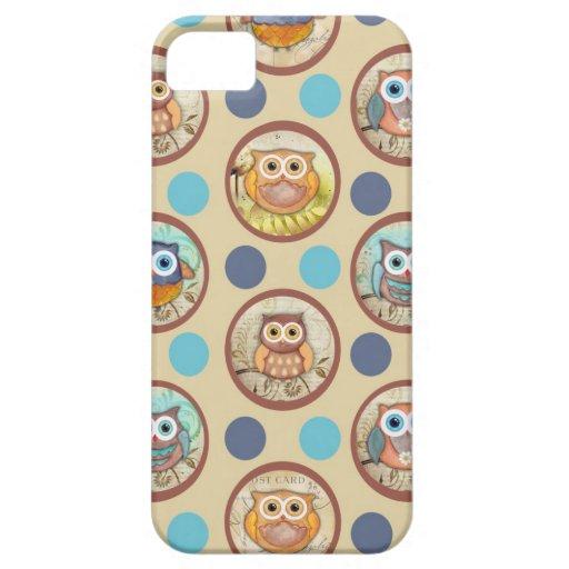 Impresión de los lunares del búho iPhone 5 Case-Mate cárcasas