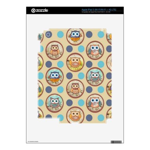 Impresión de los lunares del búho iPad 3 pegatina skin