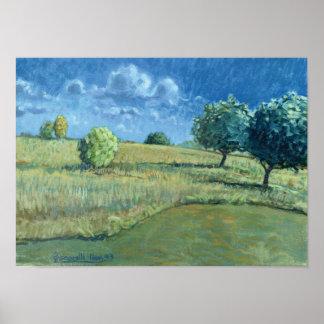 """""""Impresión de los manzanos 1993 de Shrewsbury"""" Poster"""