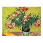 Impresión de los Oleanders de Vincent van Gogh Postal