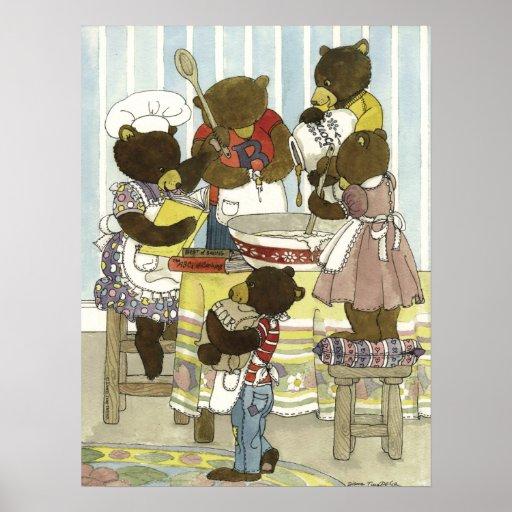 Impresión de los osos del panadero impresiones