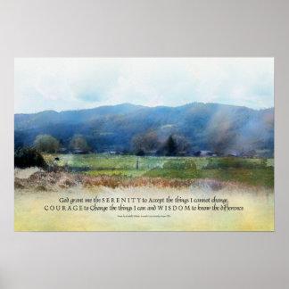 Impresión de los pastos del rezo de la serenidad poster