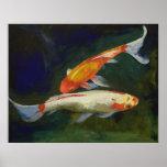 Impresión de los pescados de Feng Shui Koi Poster