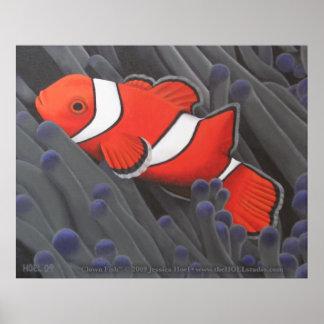 Impresión de los pescados del payaso impresiones