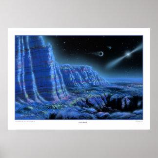 Impresión de los planetas II del pulsar Póster