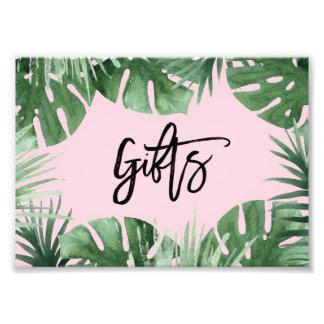 Impresión de los regalos de las zonas tropicales fotografía