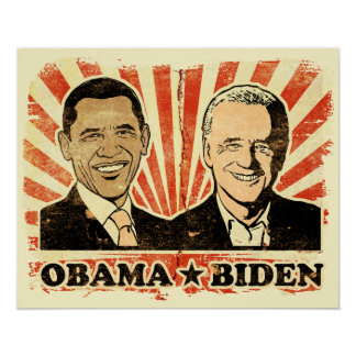 Impresión de los retratos de Obama Biden Posters