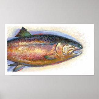 Impresión de los salmones impresiones
