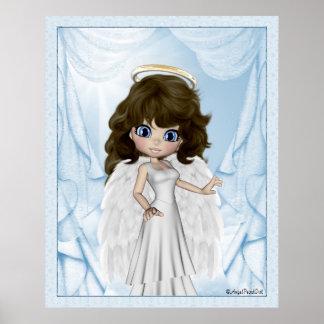 Impresión de los sueños del ángel de la angélica póster