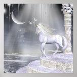 Impresión de los unicornios de Fae de los ángeles Posters