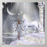 Impresión de los unicornios de Fae de los ángeles Póster