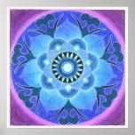 Impresión de Lotus azul Posters