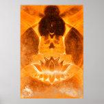 Impresión de Lotus de la meditación Posters
