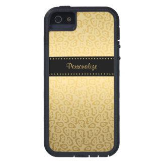 Impresión de lujo de Jaguar del negro y del oro co