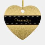Impresión de lujo de Jaguar del negro y del oro Ornamento De Reyes Magos