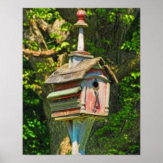 Impresión de lujo del Birdhouse Poster