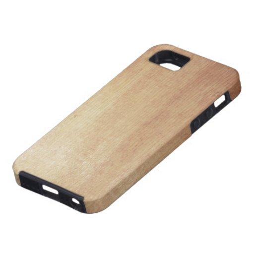 Impresión de madera de abedul iPhone 5 fundas