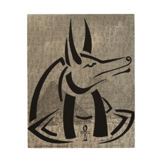 Impresión de madera de Anubis 8x10 Impresiones En Madera