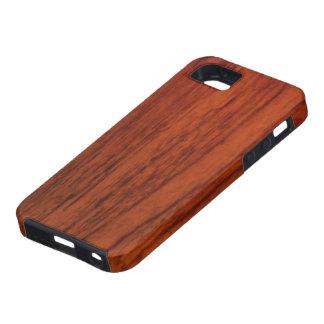 Impresión de madera de caoba iPhone 5 protectores