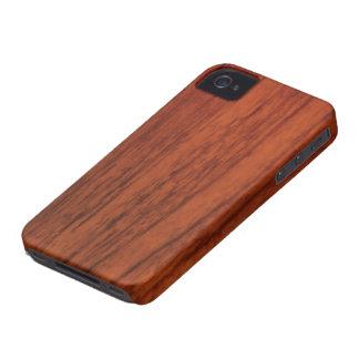 Impresión de madera de caoba iPhone 4 fundas