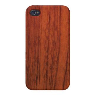 Impresión de madera de caoba iPhone 4 coberturas