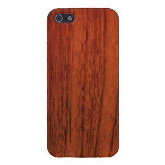 Impresión de madera de caoba iPhone 5 funda